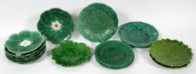 MAJOLICA POTTERY PLATES 19 PIECES