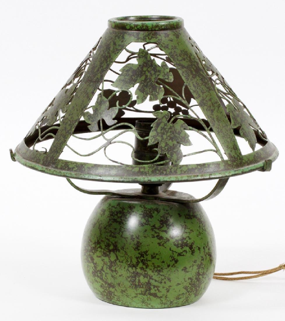 BRONZE BOUDOIR LAMP