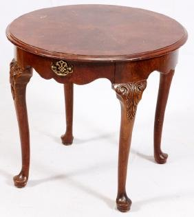 CARVED MAHOGANY SIDE TABLE