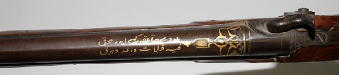 ARABIC GOLD INLAY PERCUSSION CAP RIFLE C1850 BARREL - 4