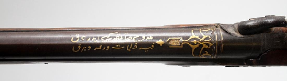 ARABIC GOLD INLAY PERCUSSION CAP RIFLE C1850 BARREL - 5