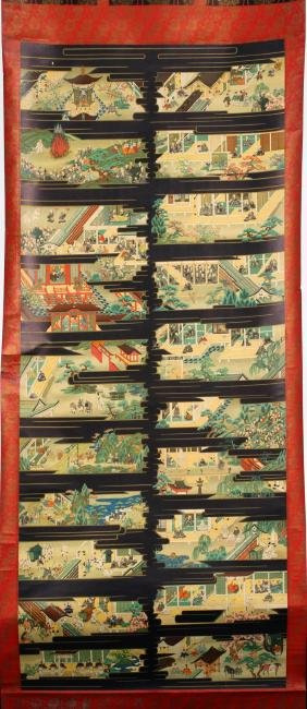 JAPANESE NARRATIVE SCROLL C. 1900