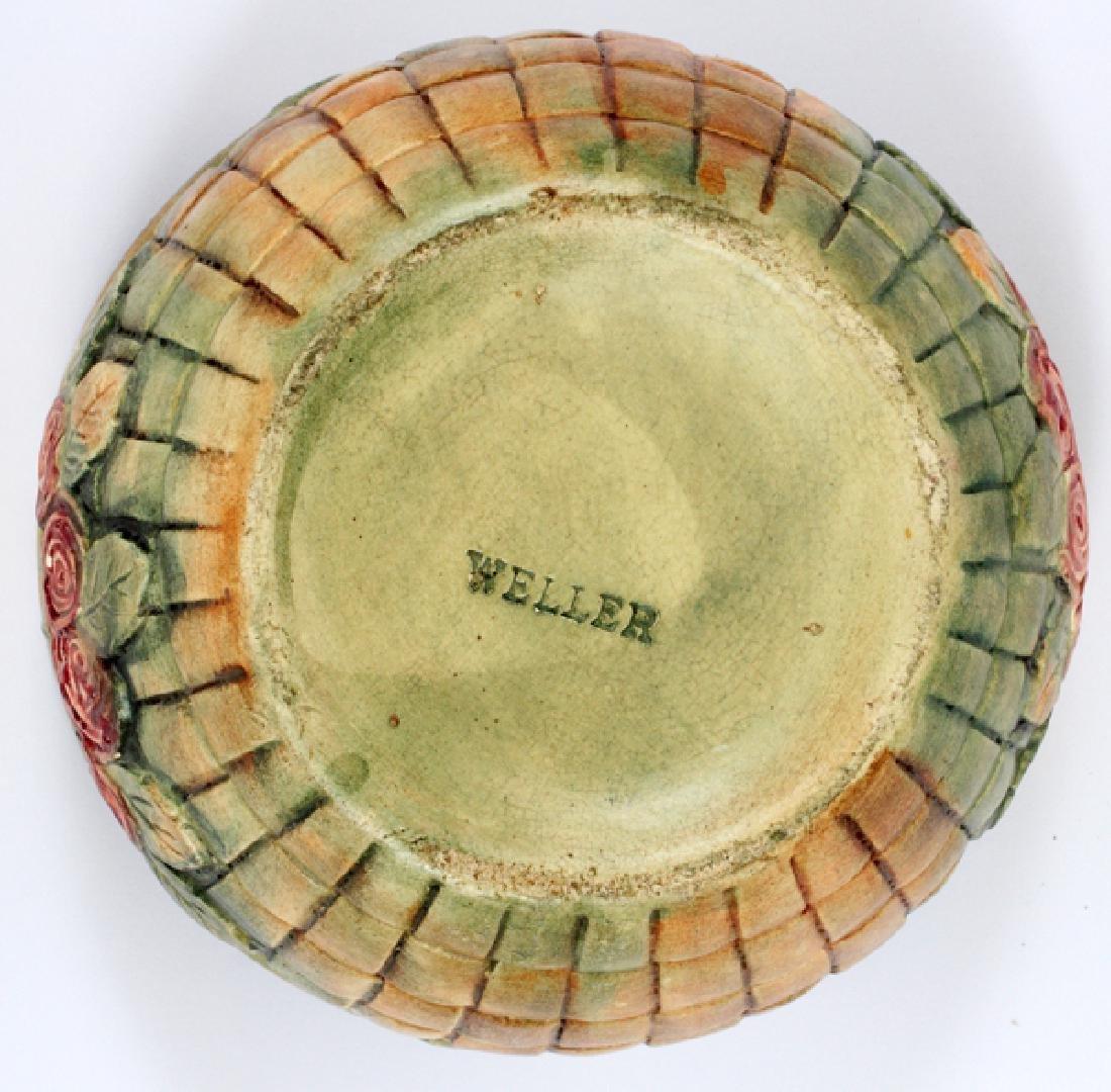 WELLER FLORAL POT ANTIQUE - 2