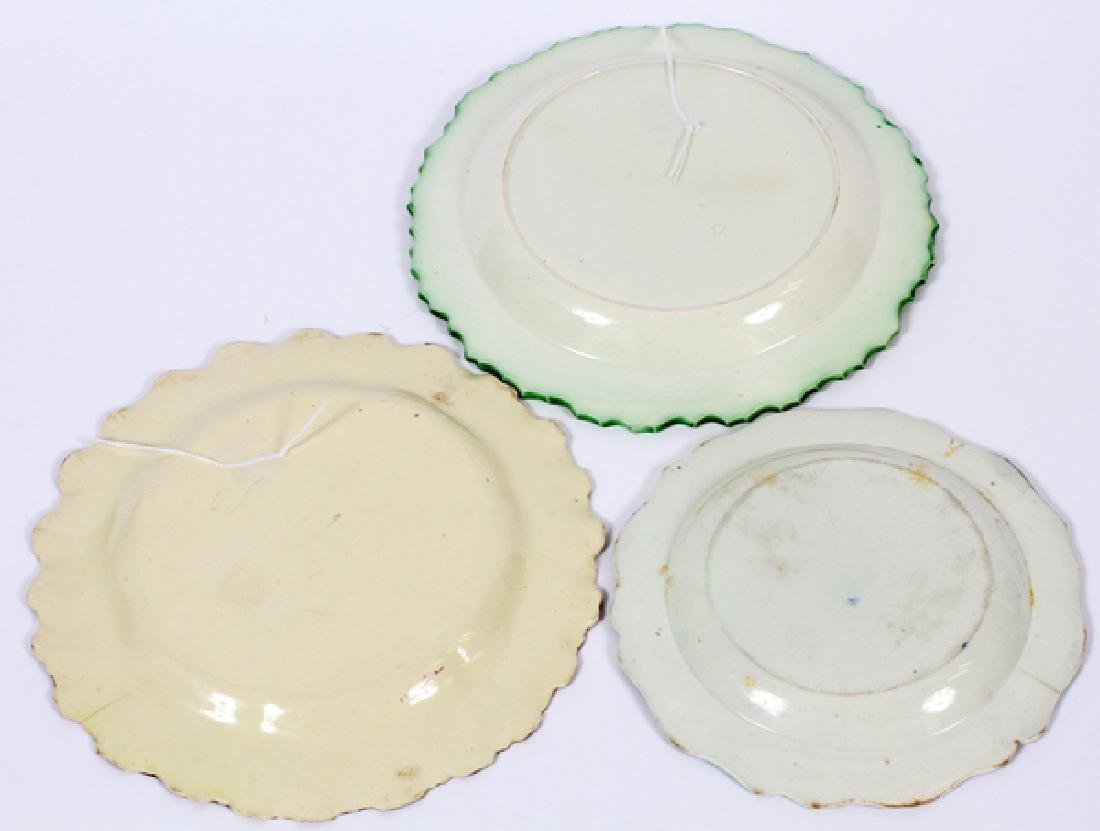 FEATHER-EDGE PORCELAIN PLATES 3 PIECES - 2
