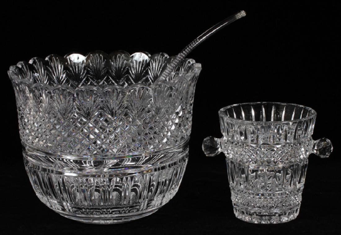 CRYSTAL PUNCH BOWL & ICE PAIL 2