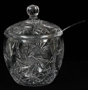 CUT CRYSTAL COVERED PUNCH BOWL