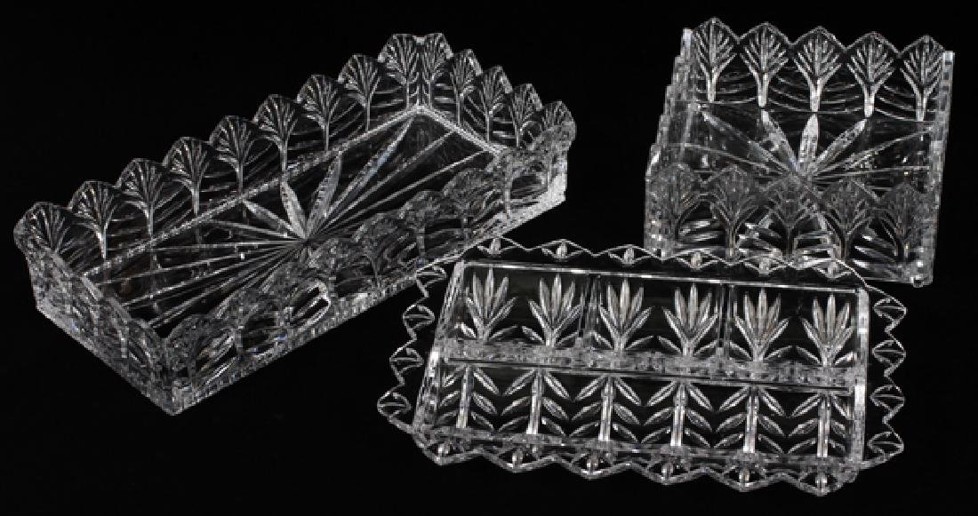CRYSTAL HAND CUT SERVING DISHES