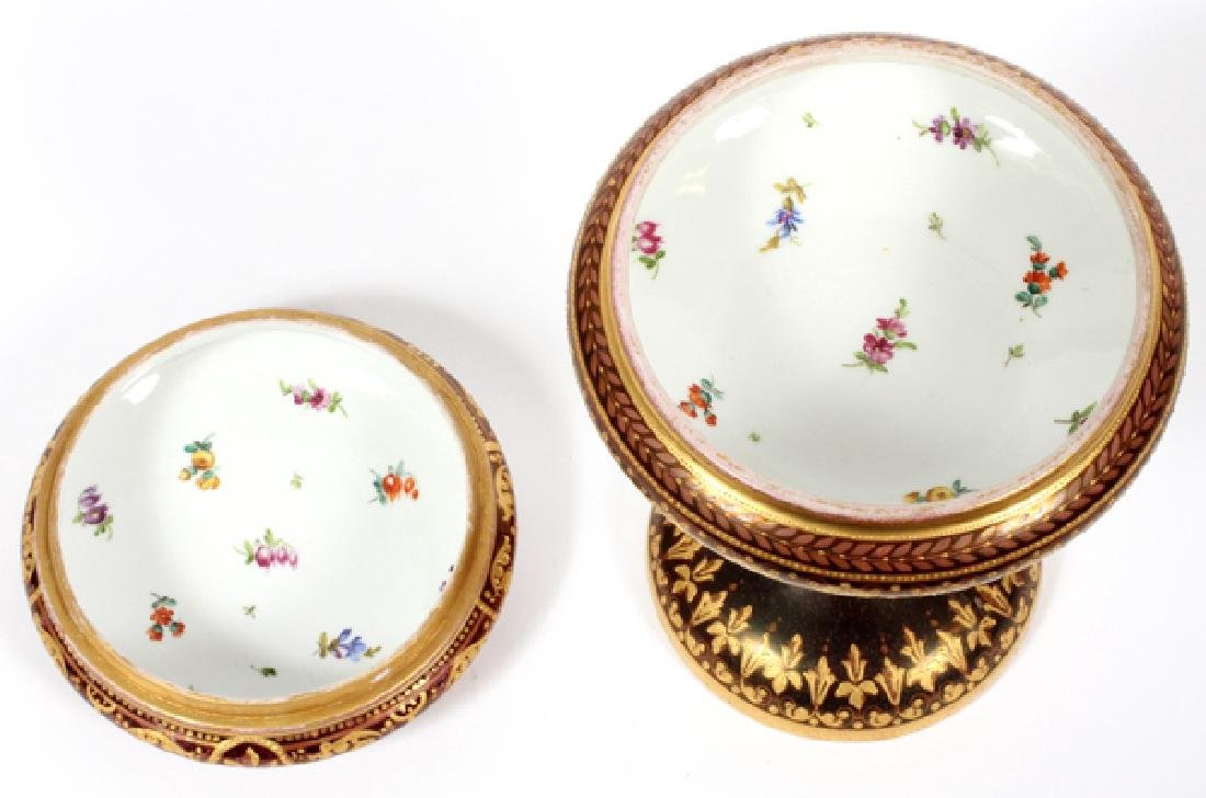 DRESDEN WAGNER SIGNED COVERED TAZZA - 4