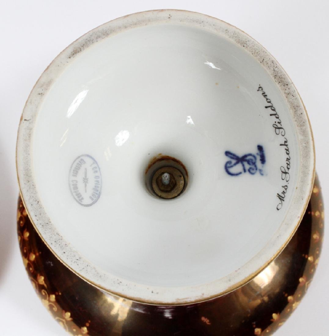 DRESDEN WAGNER SIGNED COVERED TAZZA - 5