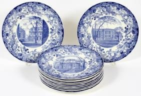 WEDGWOOD PORCELAIN HARVARD UNIVERSITY PLATES