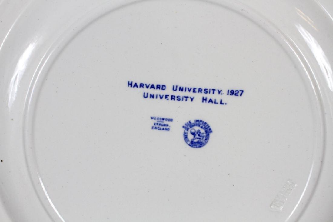 WEDGWOOD PORCELAIN HARVARD UNIVERSITY PLATES - 2