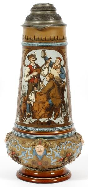 VILLEROY AND BOCH METTLACH POTTERY MAGNUM STEIN