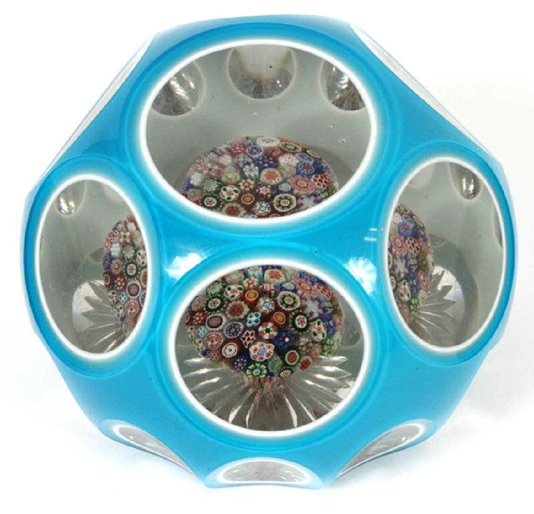 BACCARAT DOUBLE OVERLAY PAPERWEIGHT
