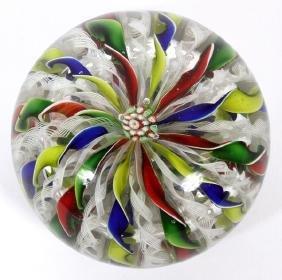 ART GLASS CROWN PAPERWEIGHT