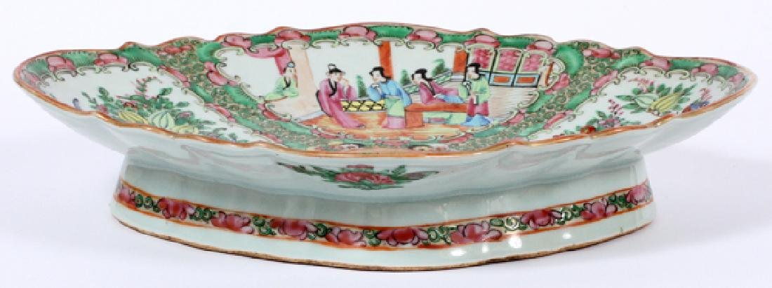 FAMILLE ROSE CHINESE FOOTED PLATTER 19TH.C. - 2