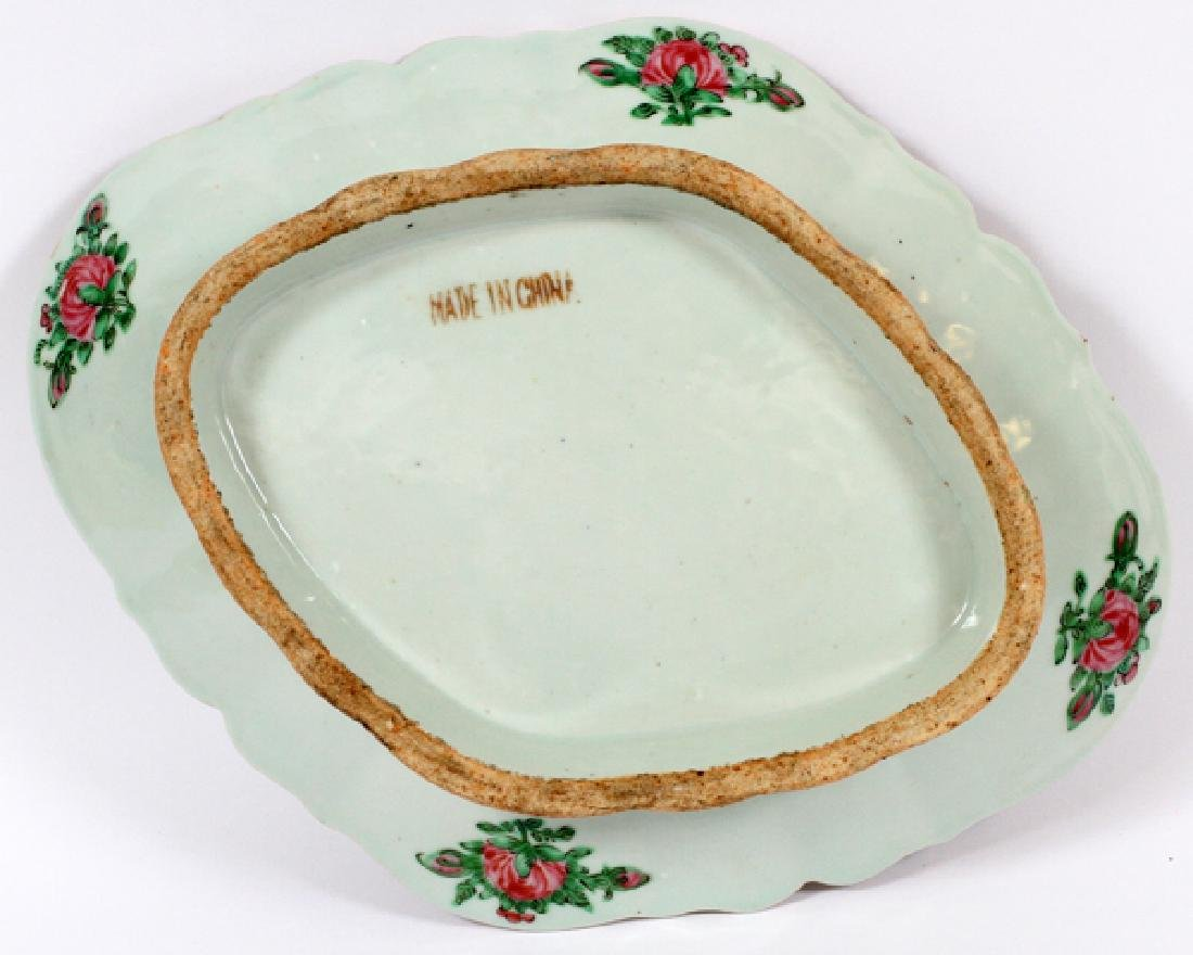 FAMILLE ROSE CHINESE FOOTED PLATTER 19TH.C. - 3