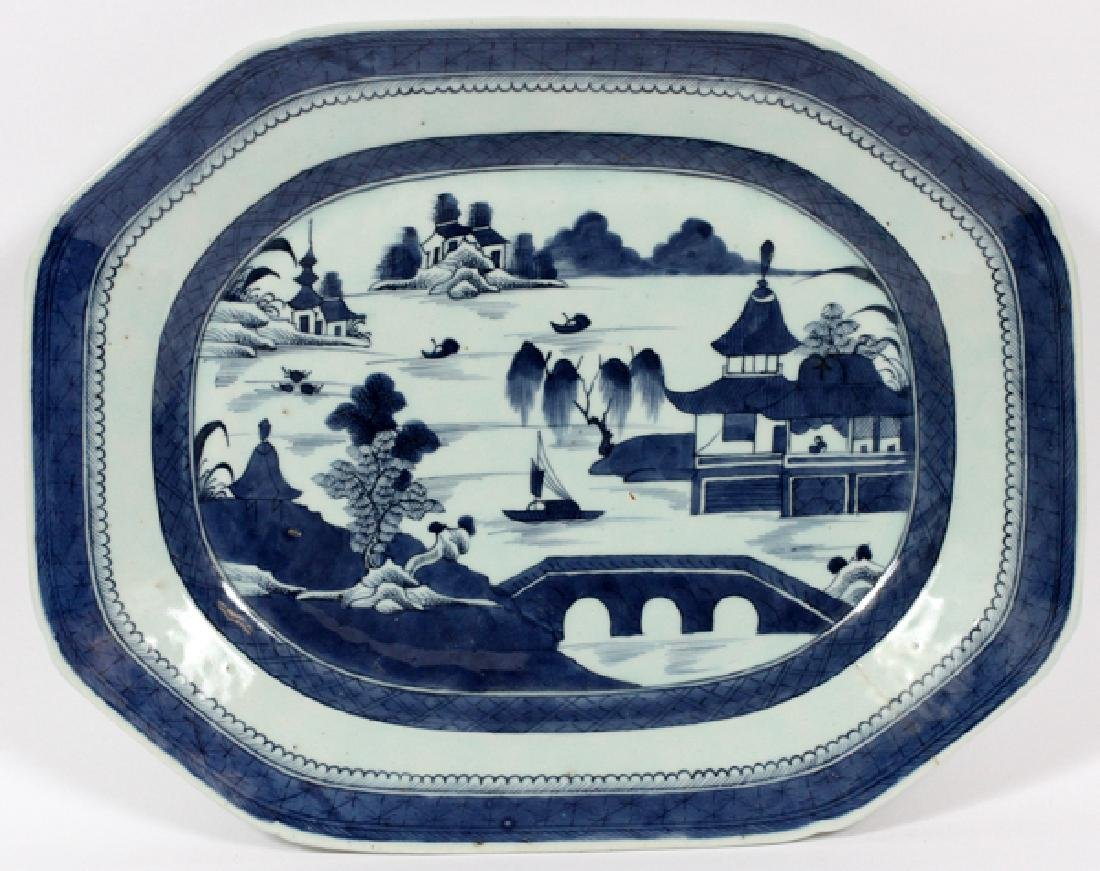 CHINESE CANTON PORCELAIN PLATTER C.1850
