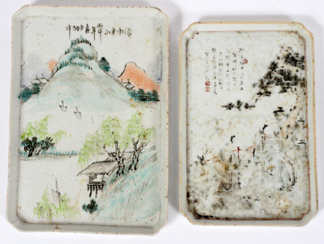 CHINESE PORCELAIN TRAY PAIR