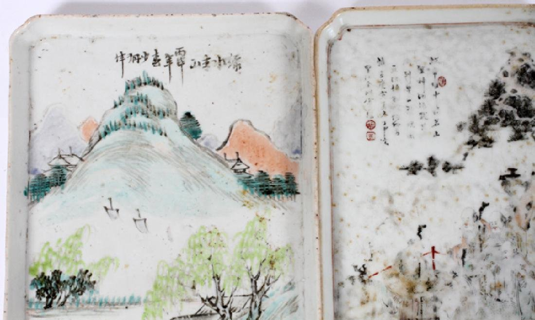 CHINESE PORCELAIN TRAY PAIR - 3
