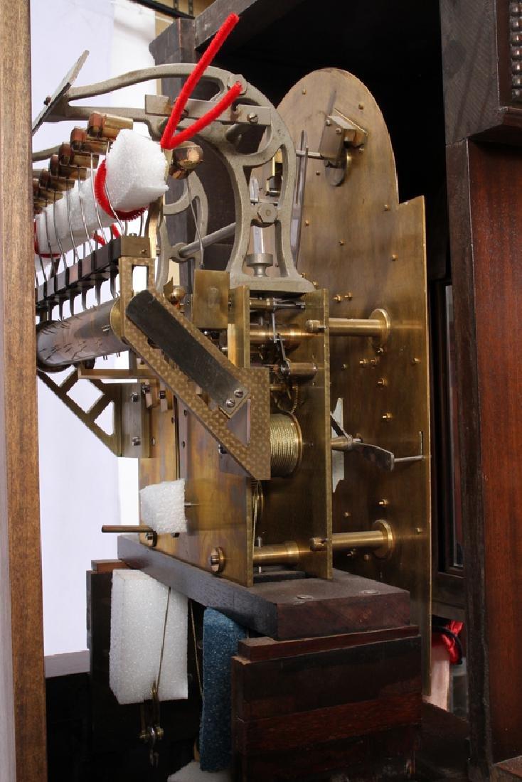 ENGLISH CARVED WALNUT GRANDFATHER CLOCK C. 1927 - 4