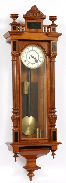 TWO WEIGHT VIENNA REGULATOR WALL CLOCK