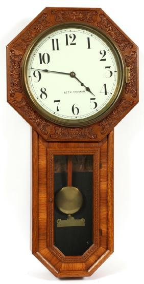 SETH THOMAS SCHOOL REGULATOR CLOCK LATE 19TH C.