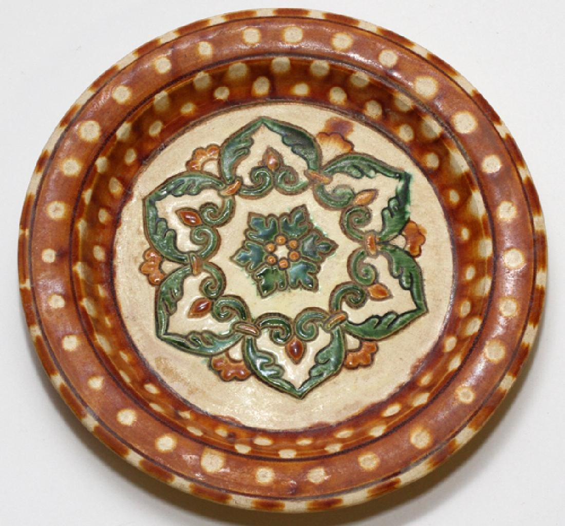 CHINESE POTTERY SANCAI CHARGER