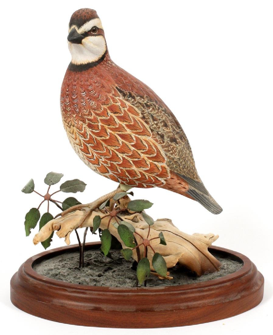 DAN WILLIAMS CARVED WOOD BIRD SCULPTURE