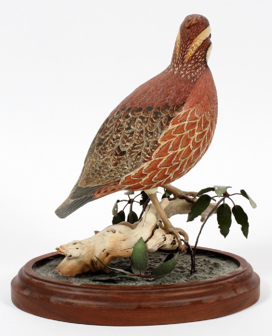 DAN WILLIAMS CARVED WOOD BIRD SCULPTURE - 2