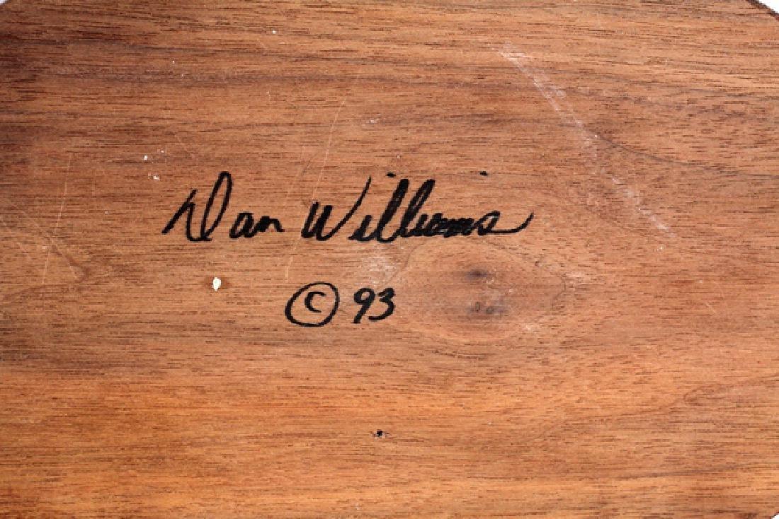 DAN WILLIAMS CARVED WOOD BIRD SCULPTURE - 3
