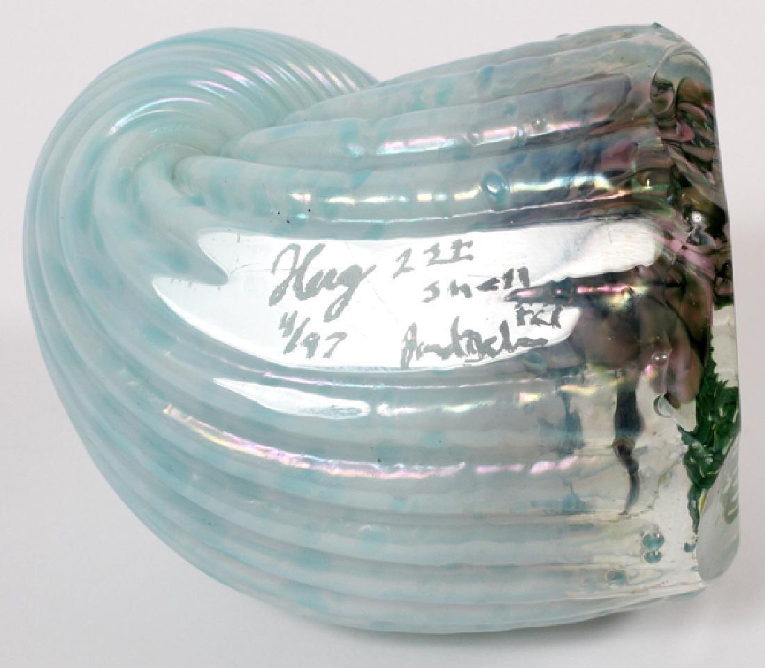 STEVEN LUNDBERG ART GLASS MAGNUM PAPERWEIGHT - 3