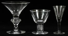 STEUBEN AND UNMARKED GLASS STEMWARE