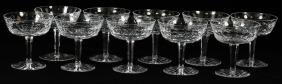 WATERFORD LISMORE CHAMPAGNES SET OF 10