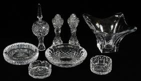 WATERFORD AND OTHER CRYSTAL TABLE ACCESSORIES