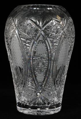 BOHEMIA CUT GLASS VASE