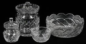 WATERFORD CRYSTAL TABLE ACCESSORIES 4 PIECES