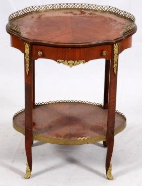 FRENCH-STYLE MAHOGANY SIDE TABLE