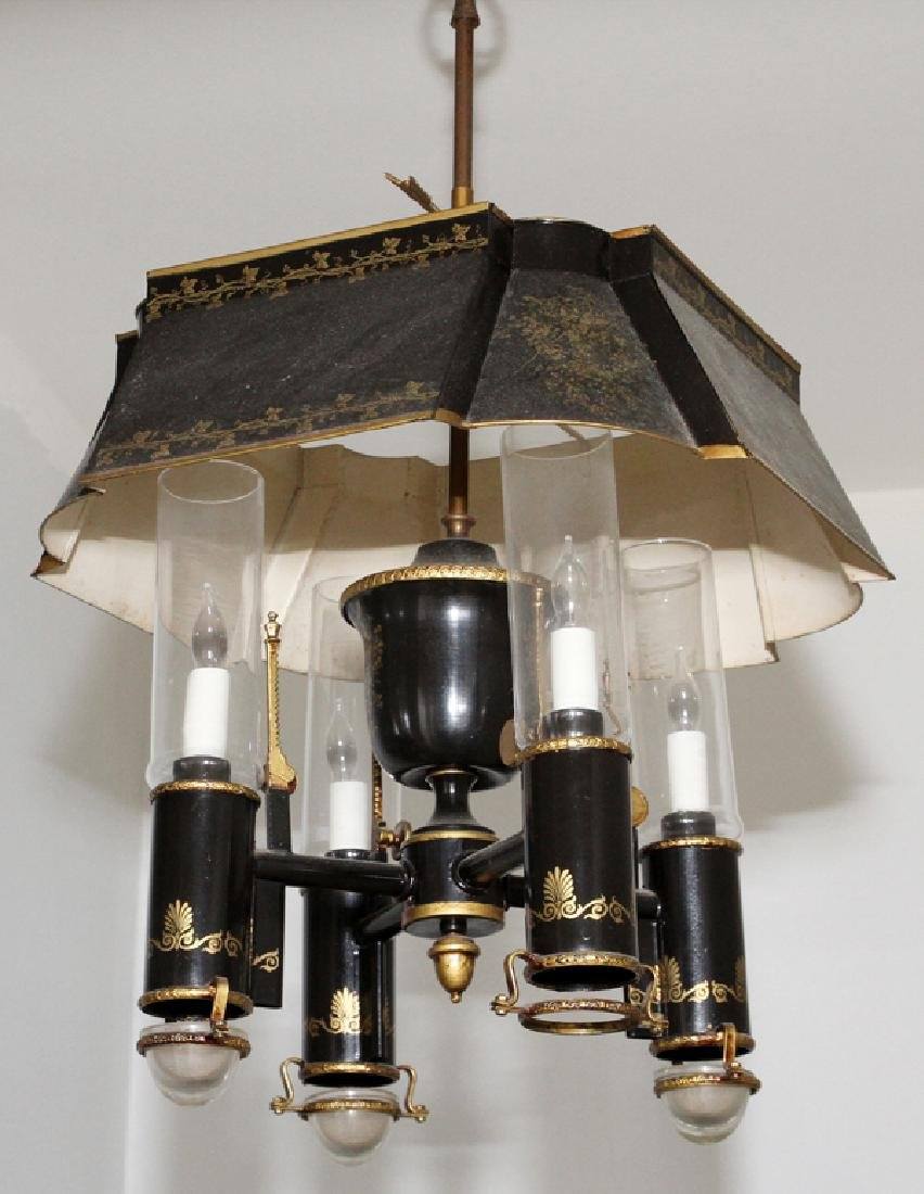 FEDERAL STYLE TOLE FOUR LIGHT CHANDELIER