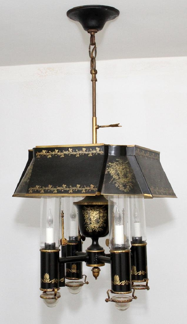 FEDERAL STYLE TOLE FOUR LIGHT CHANDELIER - 2