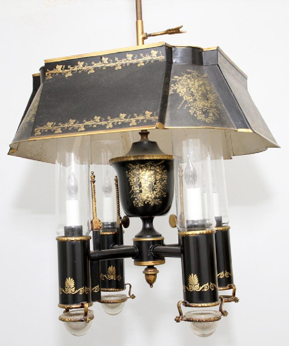FEDERAL STYLE TOLE FOUR LIGHT CHANDELIER - 3