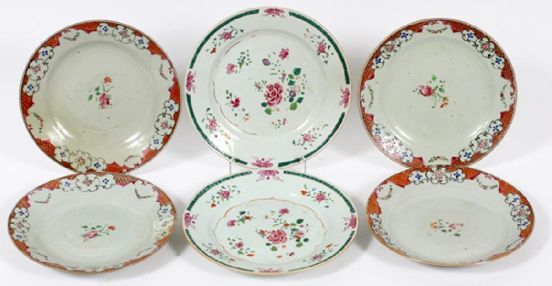 CHINESE EXPORT PLATES 18TH.C. SIX