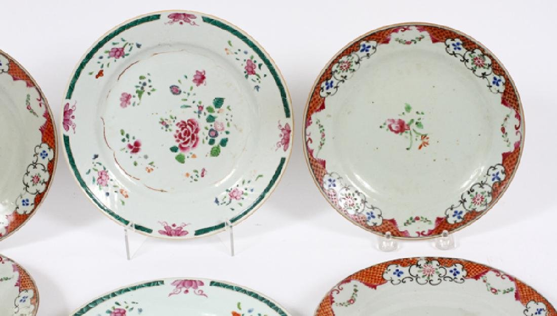 CHINESE EXPORT PLATES 18TH.C. SIX - 2