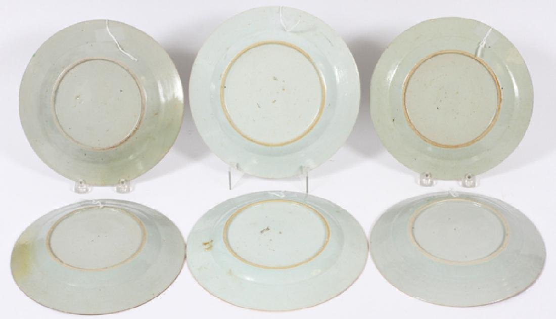 CHINESE EXPORT PLATES 18TH.C. SIX - 3