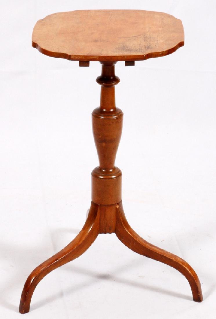 CHERRY TRIPOD TILT TOP CANDLE STAND C. 1800