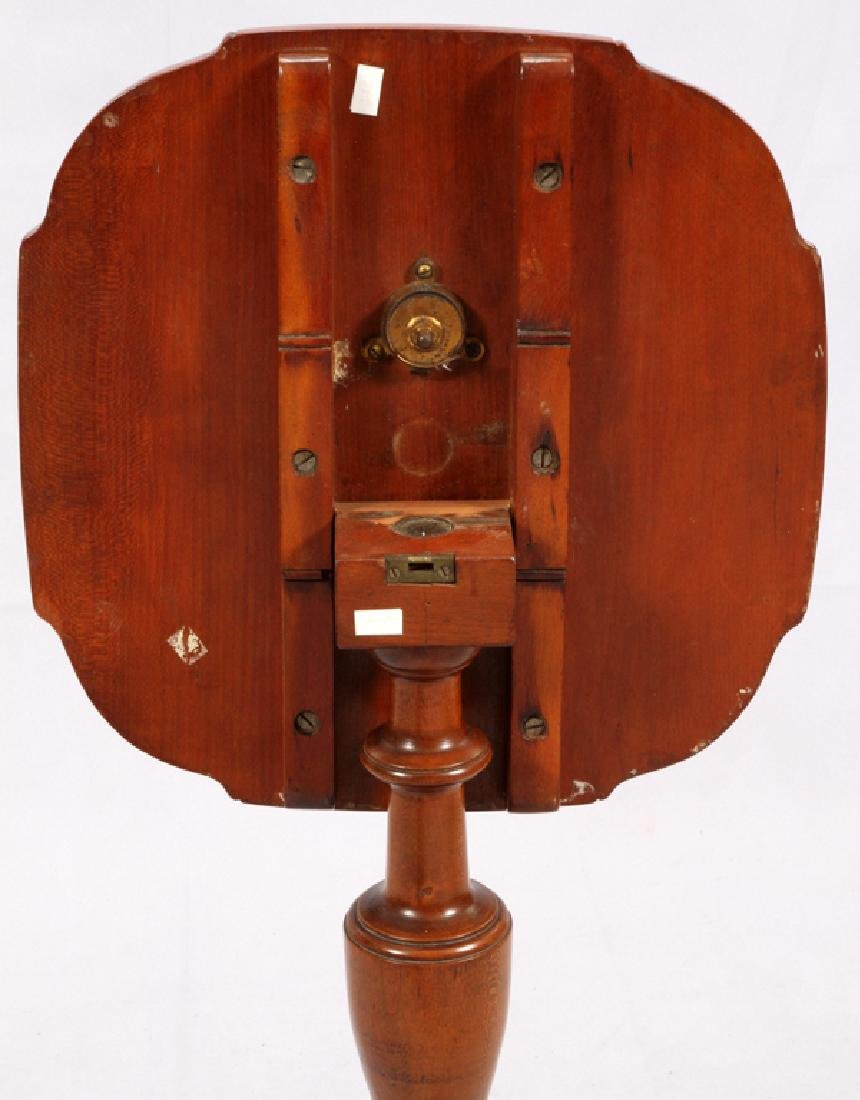 CHERRY TRIPOD TILT TOP CANDLE STAND C. 1800 - 3