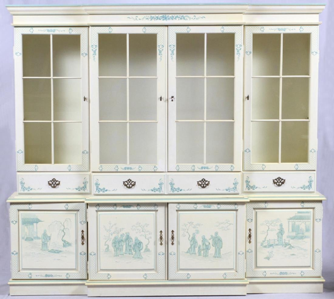 CHINOISERIE CHINA CABINET 2 PIECES