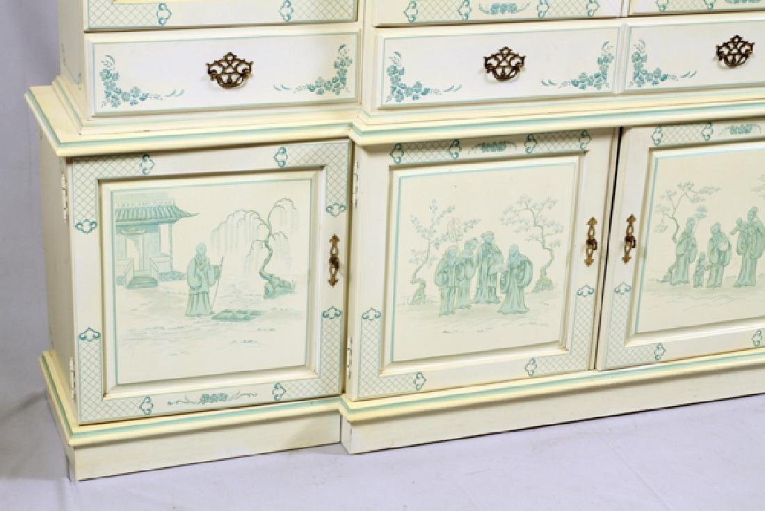 CHINOISERIE CHINA CABINET 2 PIECES - 2