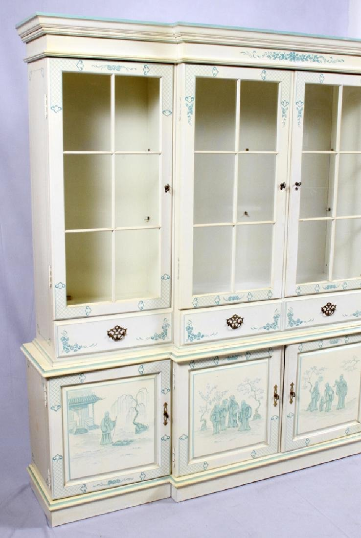 CHINOISERIE CHINA CABINET 2 PIECES - 3