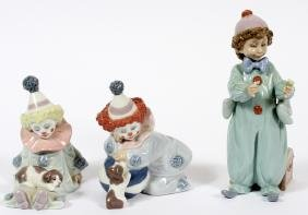 LLADRO PORCELAIN CLOWNS THREE