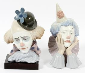 LLADRO PORCELAIN CLOWNS TWO